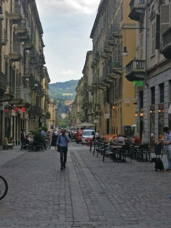 Easy Walking Side Street in Turin